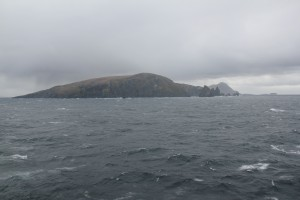 View of Cape Horn from the rear of the ship.